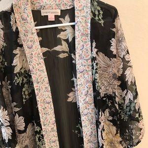 Beautiful Black Floral Kimono